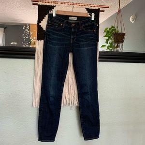 Madewell skinny skinny blue jeans size 27